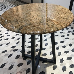Dining table furniture with granite top