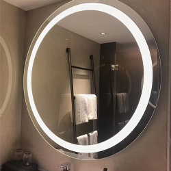 Round Front Lighted LED Backlit Bath Vanity Mirror