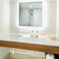 Bath vanities for Holiday Inn Express hotel by IHG